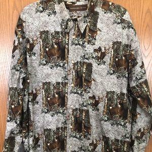 Men's Woodland Trails Deer Shirt XL